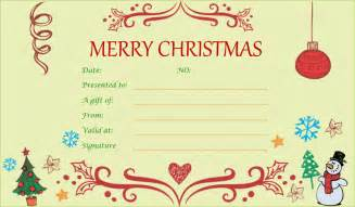 Doc.#687314: Homemade Gift Certificate Templates Christmas