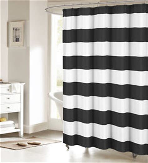 black and white striped shower curtain black and white fabric shower curtain nautical stripe