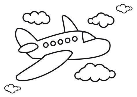 drawing free drawing of airplane drawing sketch picture with