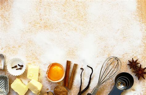 culinary powerpoint templates baking background confections of a cotton pickin