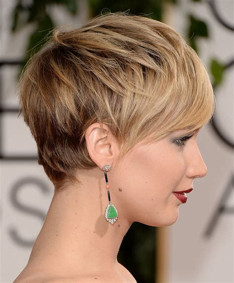 short hairstyles golden globes the best part about jennifer lawrence s short hair