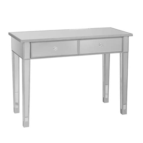 mirrored bench amazon com sei mirage mirrored 2 drawer console table