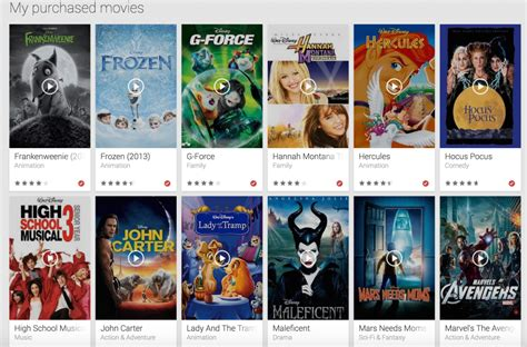 film disney usciti nel 2014 disney movies anywhere adds google play and vudu
