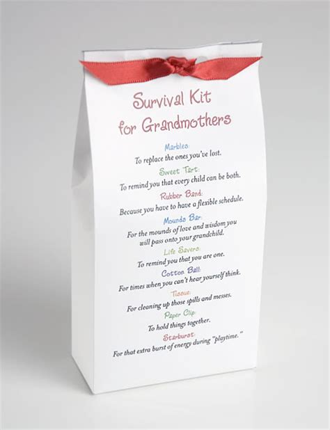 Homemade Christmas Gifts Grandparents - survival kit for grandmothers gifts u can make