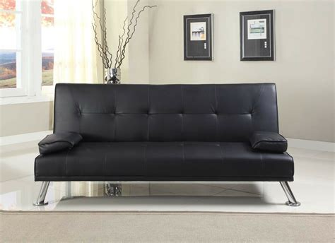 Leather Sofa Bed by Stunning Faux Leather Italian Designer Style Sofa Bed With