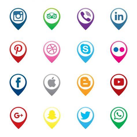 imagenes de redes sociales gratis punteros de iconos de redes sociales descargar vectores
