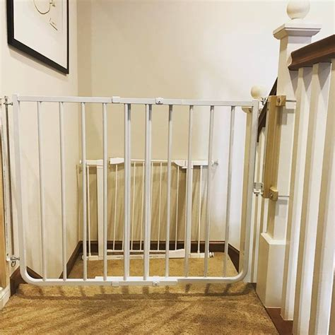 best baby gate for top of stairs with banister best gate for top of stairs baby safe homes
