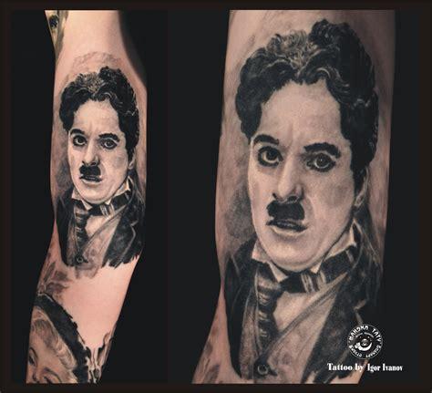 charlie tattoo chaplin by igor ivanov