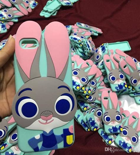 Softcase 3d Bunny Rabbit Tpu Cover Casing Samsung Galaxy J7 Prime 3d zootopia judy silicone cellphone rabbit judy