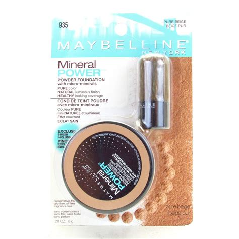 Maybelline Powder Foundation maybelline mineral power powder foundation with micro