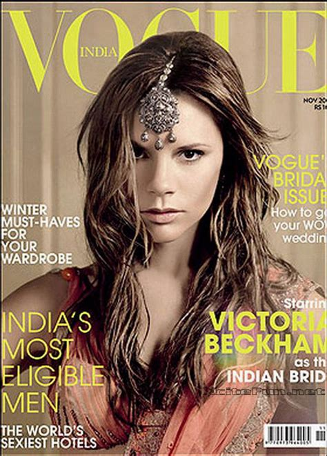 Vogue India by Beckham Shoots For Vogue India In Bridal Saree