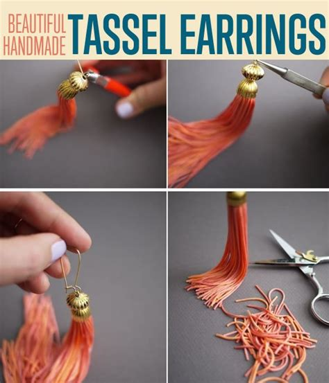 how to make tassels for jewelry how to make trendy tassel earrings diy ready