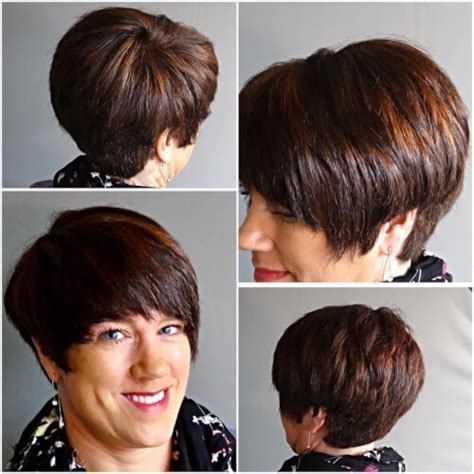 disconnected pixie hairstyle caramel disconnected pixie cut for 40