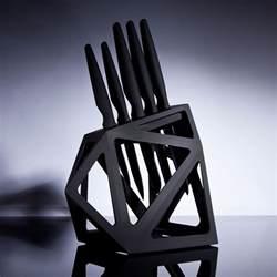 ceramic onyx 5 piece set knife block edge of belgravia touch of modern
