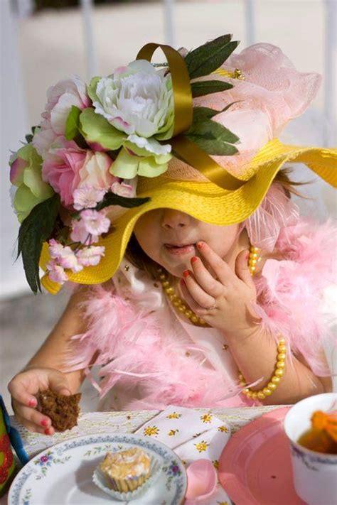 victorian tea party   girls buy  cheap hats