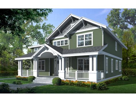 House Plans With Front Porches | craftsman bungalow house two story craftsman house plan