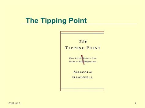 el punto clave the tipping point books lessons from the tipping point