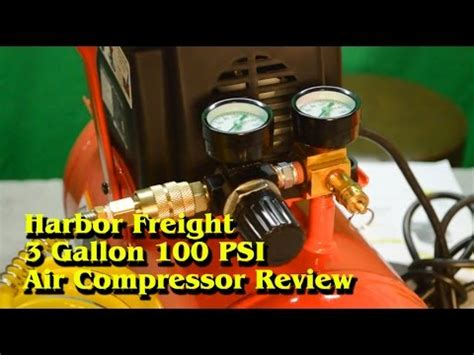 harbor freight 3 gallon 100 psi air compressor review