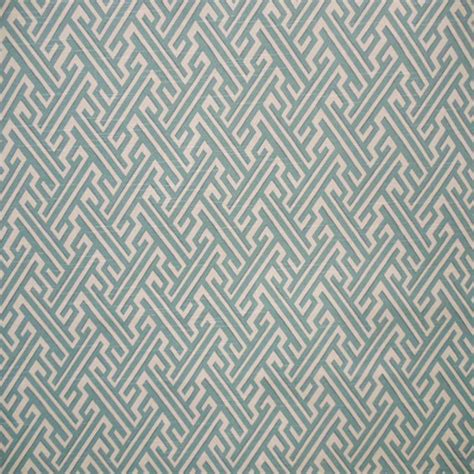 geometric drapery fabric trellis mist blue and ivory geometric print drapery fabric