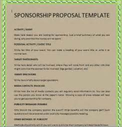 corporate sponsorship proposal outline images frompo