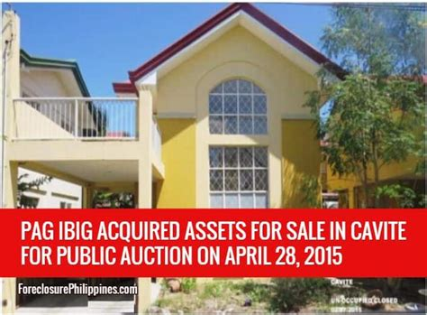 pag ibig housing loan acquired assets pag ibig fund acquired assets for sale april 28 2015