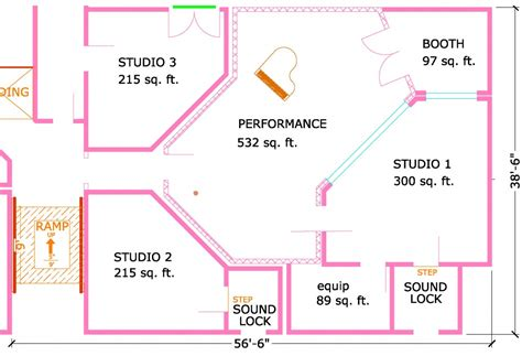 music studio floor plans floor plan for multiple room facility steven klein s