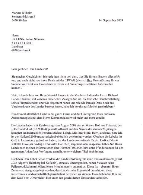 Offizieller Brief Anfrage Die Tiwag Org Offener Brief An Lr Steixner Der Einem Luxemburger Million 228 R Den Kauf Eines