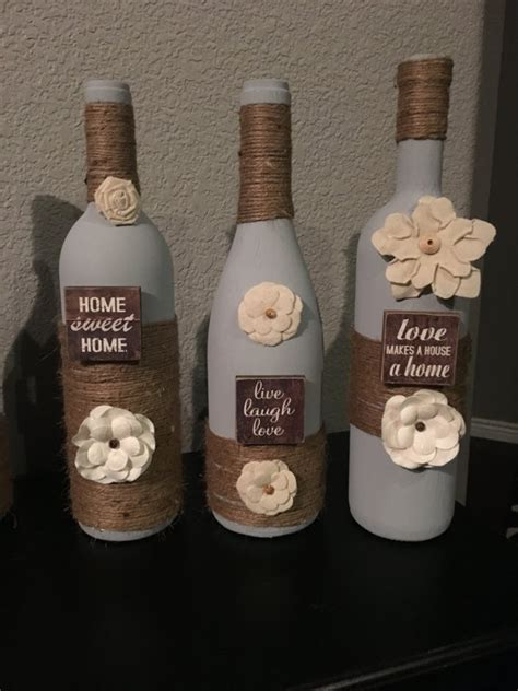 wine bottle home decor items similar to wine bottle decor home wine bottles