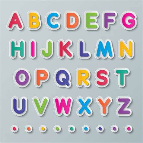 colorful letters colorful alphabet vector free