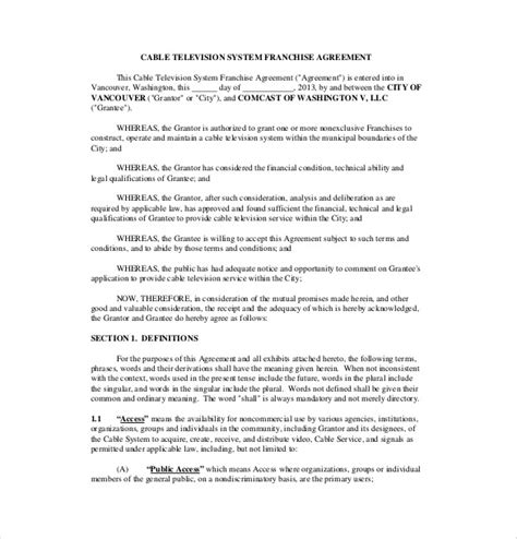 Franchise Agreement Template 12 Free Word Pdf Documents Download Free Premium Templates Franchise Business Template