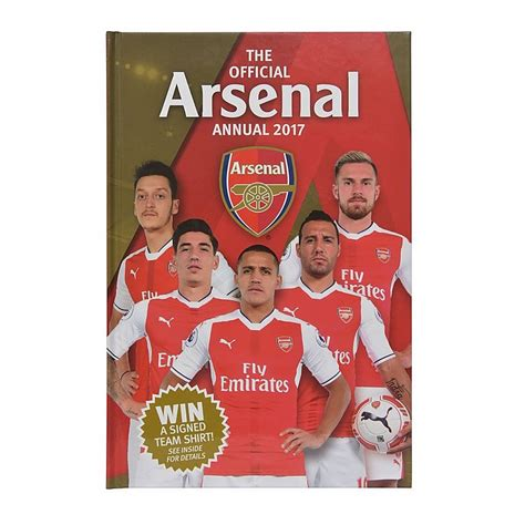 arsenal official arsenal official 2017 annual books by product gifts