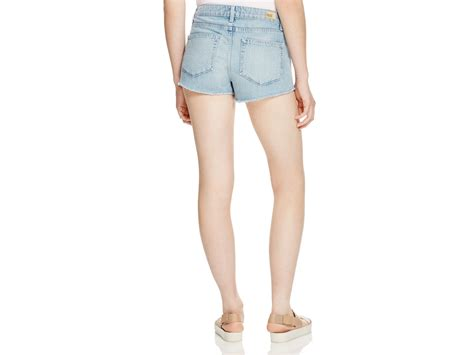 Patchwork Shorts - denim keira patchwork cutoff shorts in blue lyst