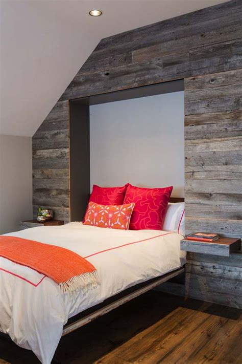 Bedroom Feature Wall Ideas 39 Jaw Dropping Wood Clad Bedroom Feature Wall Ideas