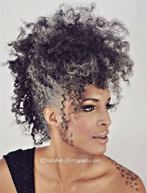 how to get gorgeous salt and pepper hair salt pepper fro hawk natural hair pinterest