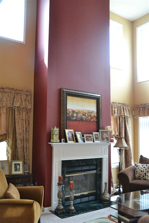 what color to paint walls accent wall for mantel fireplace home furnishings