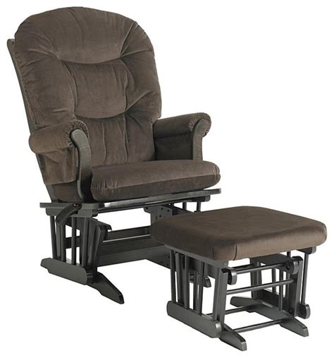 dutailier reclining glider and ottoman dutailier ultramotion hardwood reclining glider and