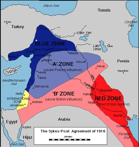 middle east war zone map the sykes picot agreement 1916