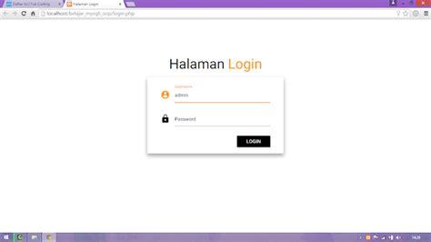 membuat web multi user dengan php membuat login multi user dengan php ekstensi mysqli