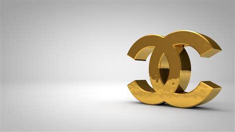 wallpaper chanel gold chanel logo golden download hd wallpapers
