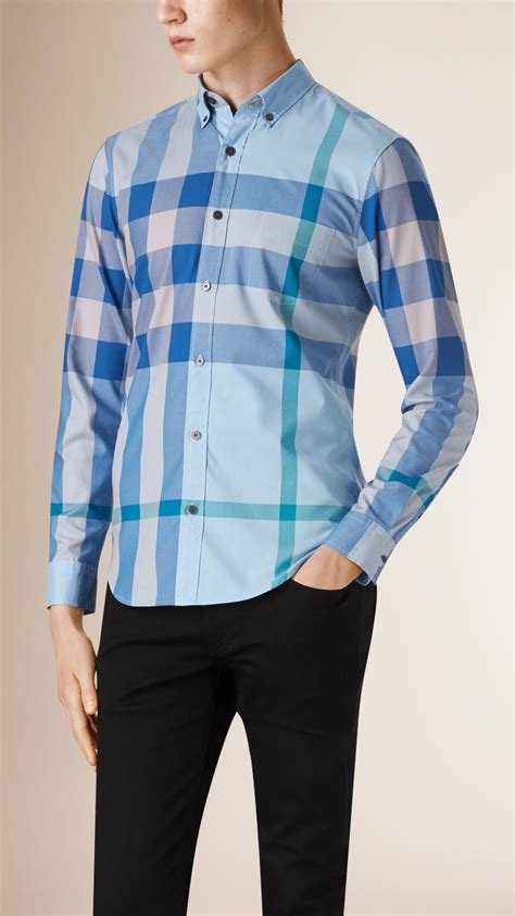 Gloria Jumbo Blouse Light Blue burberry exploded check cotton shirt in blue for light blue lyst
