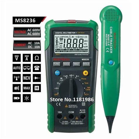 mastech ms8236 auto range digital multimeter lan tester net cable tracker tone telephone line