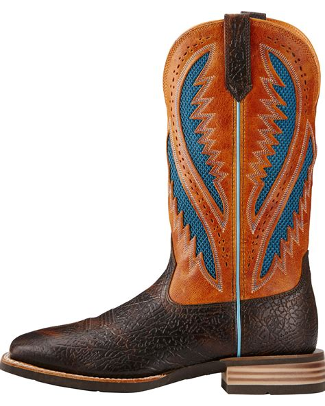 ariat quickdraw boots mens ariat s quickdraw venttek boots wide square toe