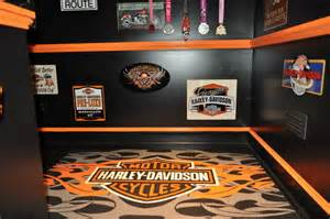 Harley davidson themed theater contemporary home theater