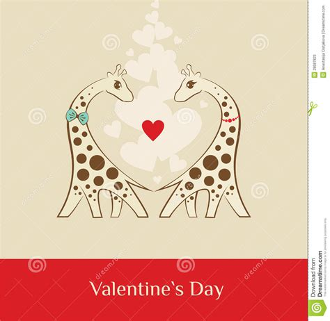 valentines day brown giraffe valentines day brown stock photos image 28587823