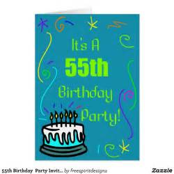 55th birthday party invitation greeting card by