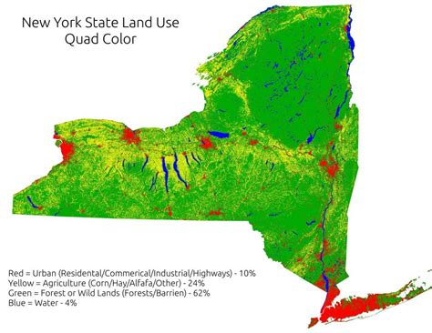 new york state colors map new york state land use color andy arthur org