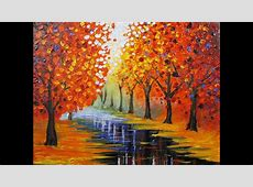 Art Lesson: How to Paint an Easy Leonid Afremov Inspired ... Naturalistic Design Drawing