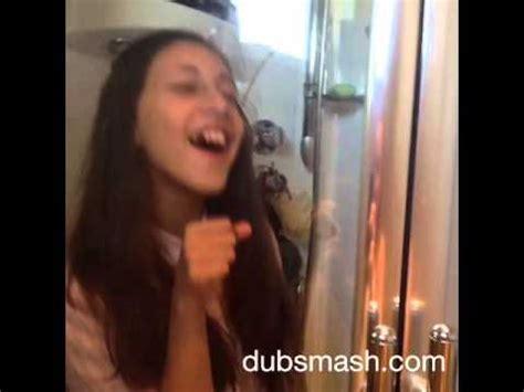 in the mirror singing in the shower