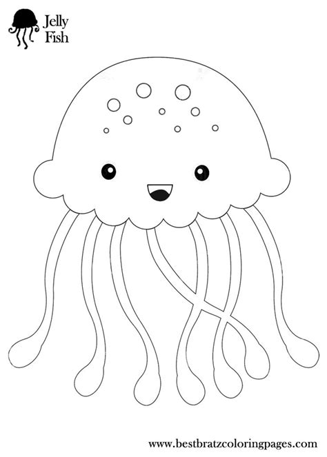 Wildlife Jellyfish Coloring Pages Barriee Jelly Fish Coloring Pages