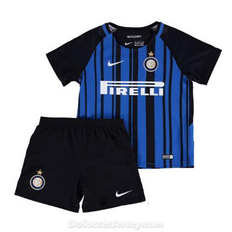 Jersey Intermilan Home 1718 inter milan 2017 18 home kit children shirt and shorts dosoccerjersey shop
